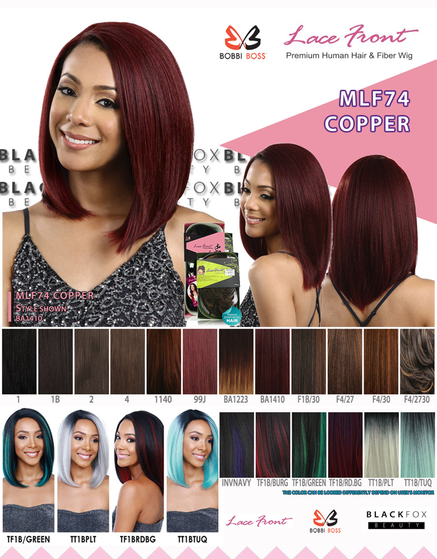 Mlf74 Copper Bobbi Boss Premium Fiber Synthetic Lace Front Wig Ebay