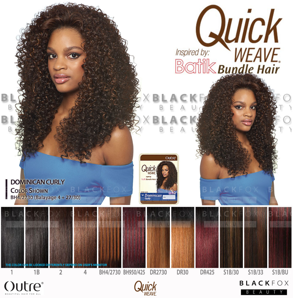 Details about Outre Synthetic Half Wig Quick Weave BATIK DOMINICAN CURLY  BUNDLE HAIR 484208fa4