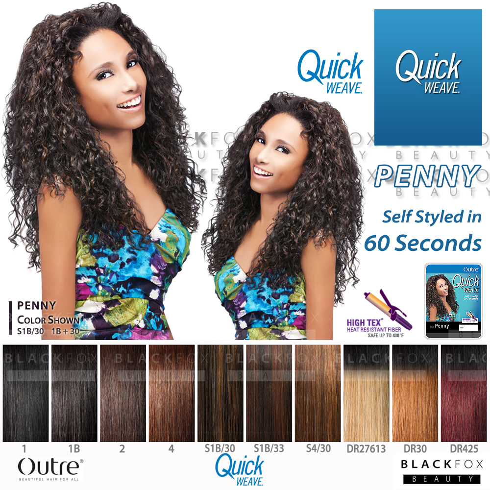 Details about PENNY OUTRE QUICK WEAVE SYNTHETIC HAIR HALF WIG LONG CURLY 048537de5c