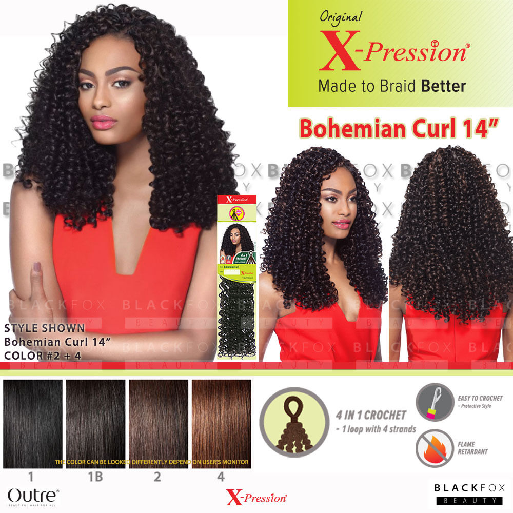 Outre X Pression Bohemian Curl 14 4 In 1 Loop Crochet Synthetic