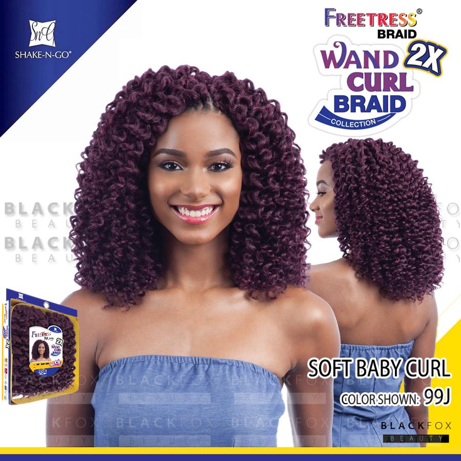Freetress Soft Baby Curl Synthetic Braid 2x Wand Curl Crochet Braid