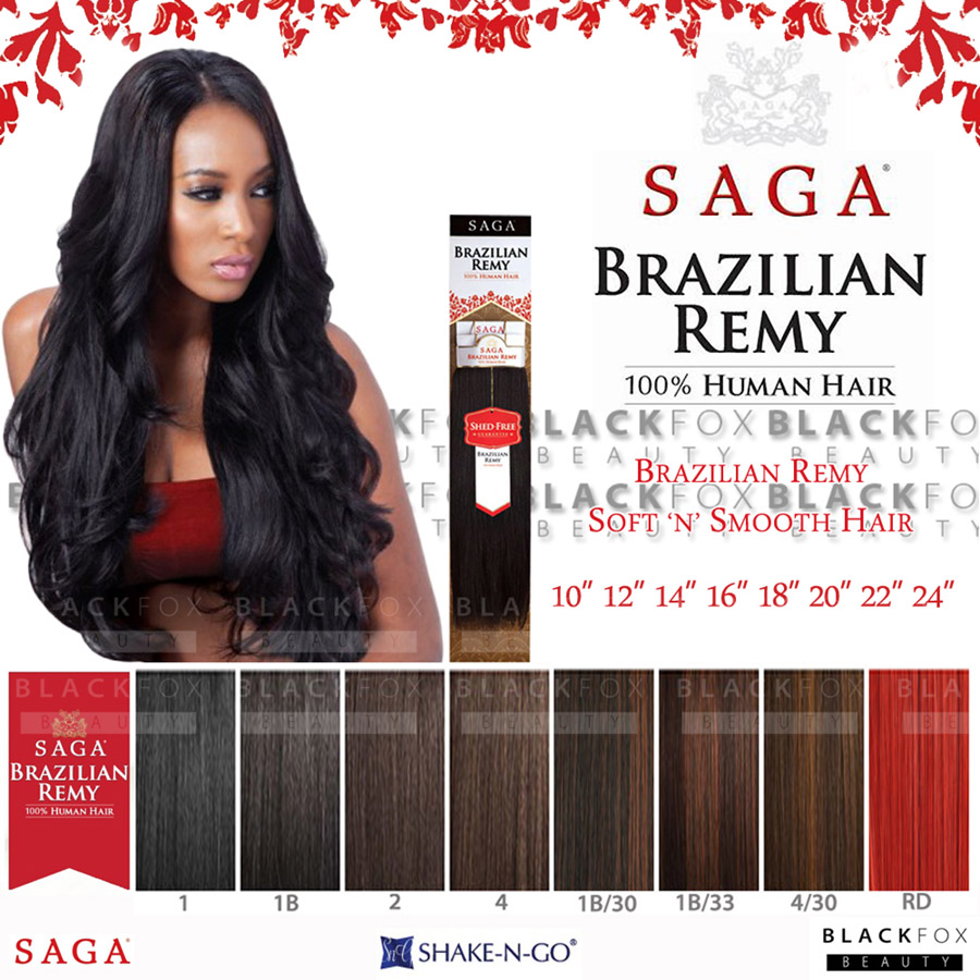 Saga Brazilian Remy Yaky 100 Human Hair Weave 10 12 14 16 18
